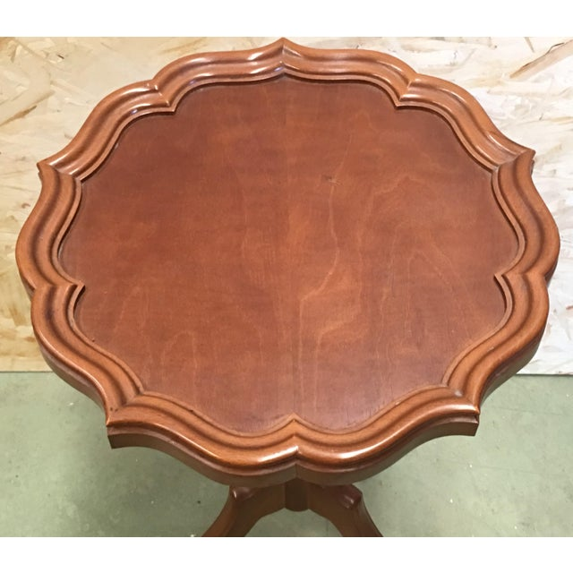 1950s 20th Century George III Style Piecrust Wine Table For Sale - Image 5 of 10