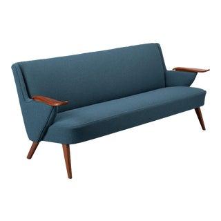 Danish Reupholstered Blue Design Sofa, Johannes Andersen for CFC Silkeborg 1960s For Sale