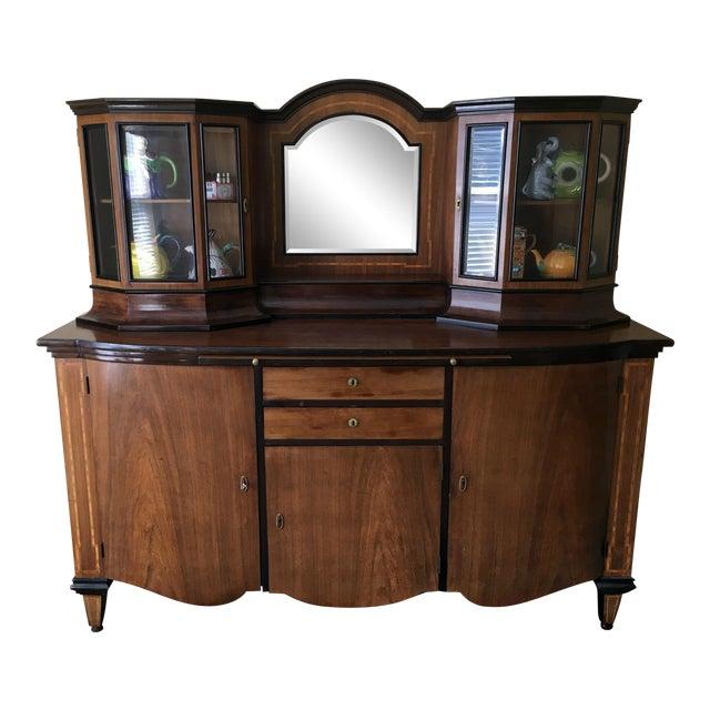 Antique Biedermeier Buffet Hutch/China Cabinet - Antique Biedermeier Buffet Hutch/China Cabinet Chairish