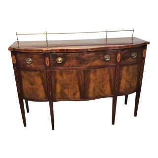 1950s Federal Wallace Nutting by Drexel Inlaid Mahogany Sideboard For Sale
