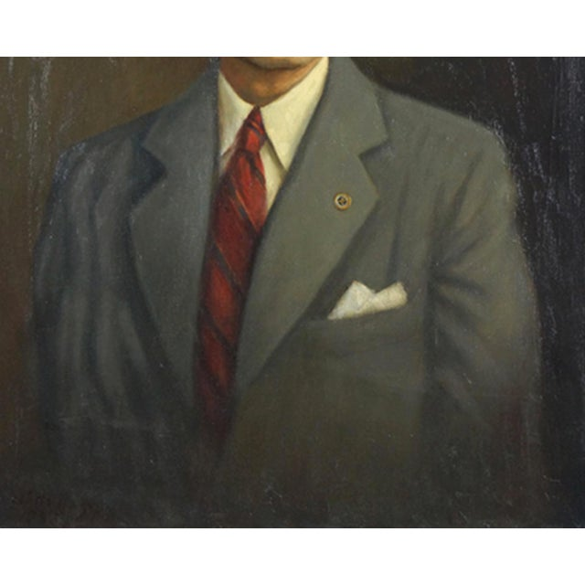1940s Mid Century Portrait of a man.artist Unknown (American, 20th Century) For Sale - Image 5 of 6