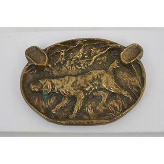 Antique Bronze Hound Ashtray Preview