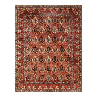 Persian Semi Antique Bakhtiari Hand-Knotted 10'3'' X 13'6'' For Sale