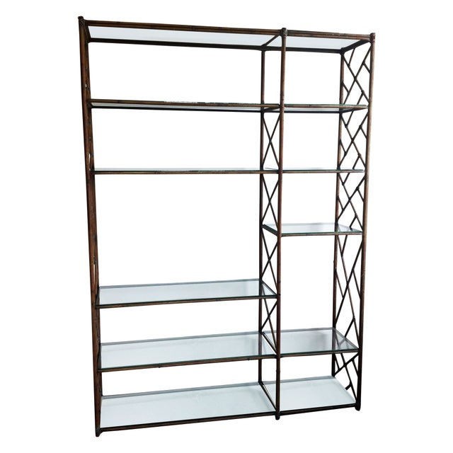 Mid-Century Regency Chippendale Wall Unit Etagere - Image 1 of 4