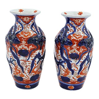 Antique Japanese Imari Porcelain Vases
