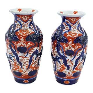 Antique Japanese Imari Porcelain Vases