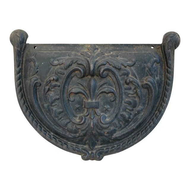 19th C. French Fleur-De-Lis Iron Relief Plaque - Image 1 of 8