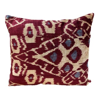 Contemporary Handwoven Cotton Velvet Pillow For Sale