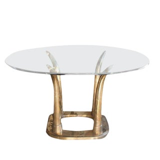 Brass Tusk Dining Table For Sale