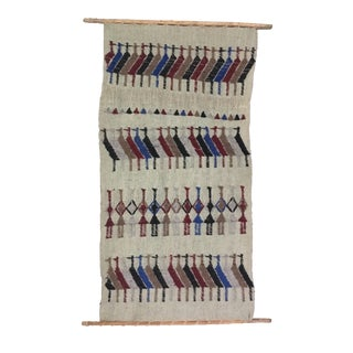 Boho Chic Hand Woven Wall Hanging Textile Art For Sale
