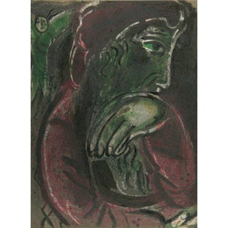 Chagall Job Disconsolate From Drawings From the Bible Lithograph Art For Sale