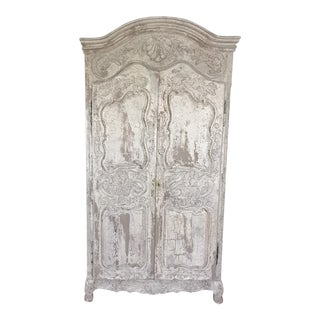 Contemporary Tan Beige Armoire For Sale