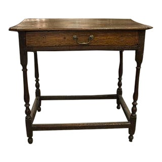 18th Century English Oak Side Table For Sale