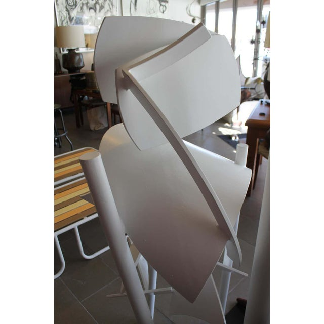 1970s 1979 Steel Abstract Sculpture For Sale - Image 5 of 7