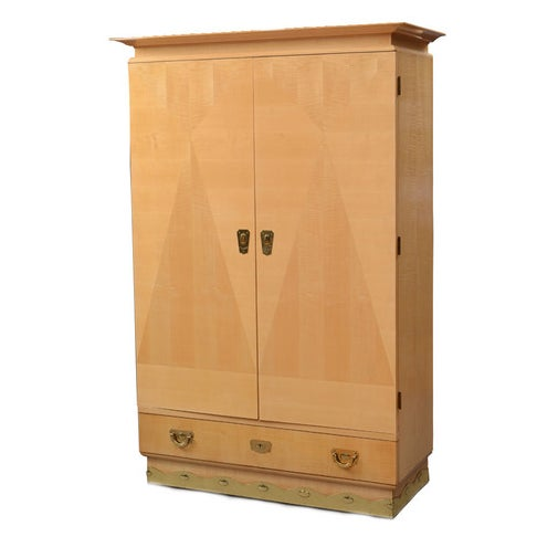 August Ungethum Vintage Art Deco Sycamore Cabinet - Image 1 of 8