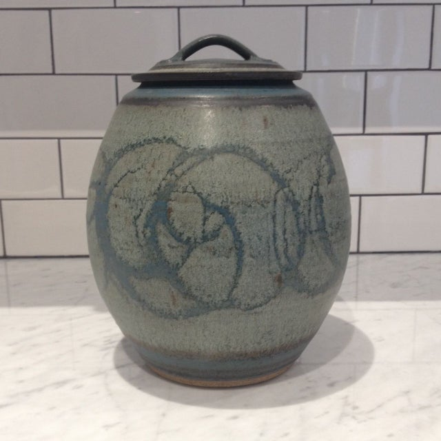 Mid-Century Studio Pottery Lidded Jar - Image 2 of 5