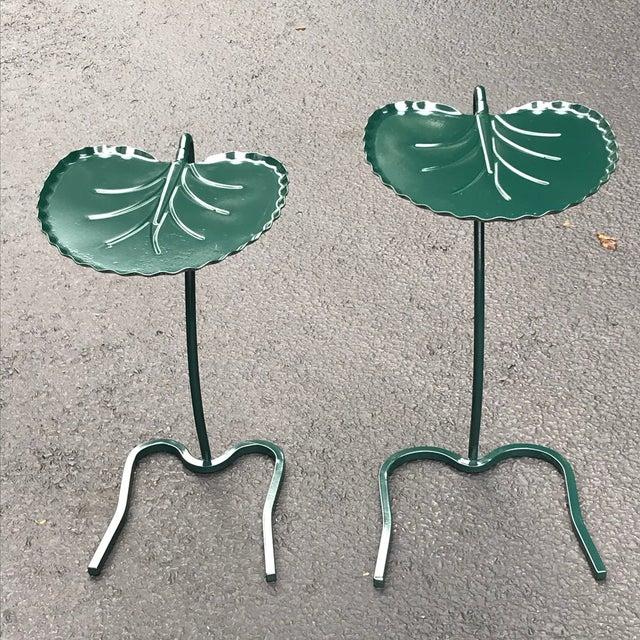 "John Salterini 1950s Vintage Salterini ""Lily Pad"" Nesting Patio Tables - a Pair For Sale - Image 4 of 12"