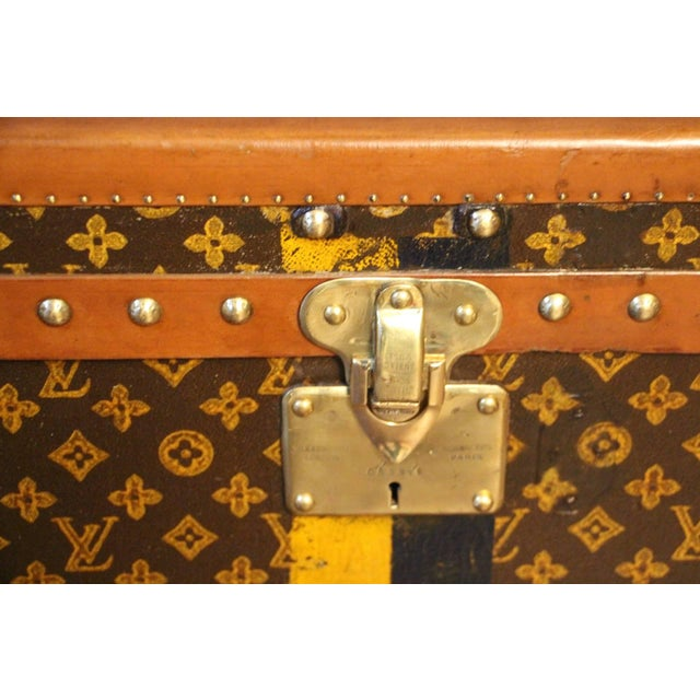 Pair of Louis Vuitton Monogram Steamer Trunks, Malles Louis Vuitton For Sale - Image 9 of 13