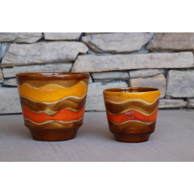 Mid-Century Ceramic Planters - A Pair For Sale - Image 4 of 10