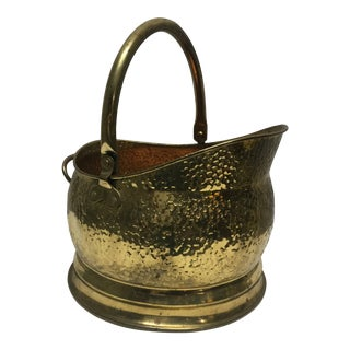 Vintage Brass Planter With Two Handles For Sale