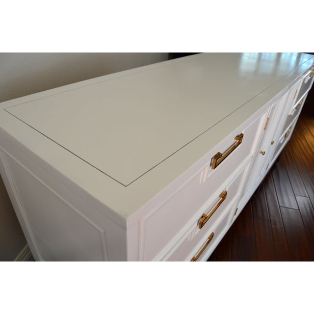 American of Martinsville Mid-Century White Dresser - Image 6 of 10