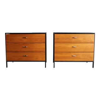 George Nelson & Associates Steel Frame Chests for Herman Miller Circa 1955 - a Pair For Sale