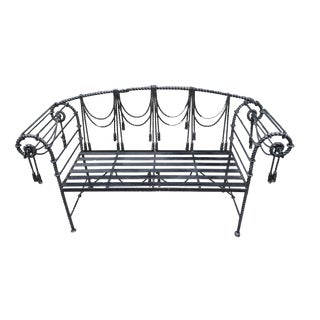 1980s Italian Rope and Tassel Design Bench For Sale