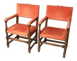 Image of Burnt Orange Side Chairs