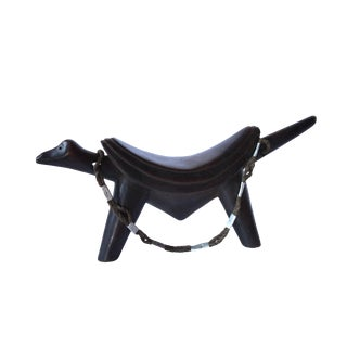 Dinka Head Rest With Rope Handle For Sale
