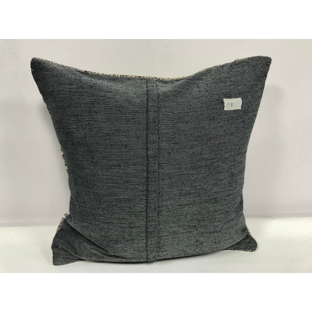 Primitive Traditional Turkish Antique Hand Woven Pillow Cover For Sale - Image 4 of 6