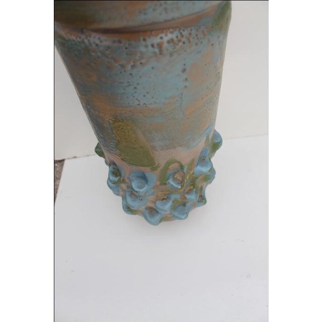 Vintage Blue Bonnet Ceramic Vase For Sale - Image 10 of 10