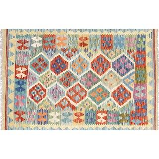 "Contemporary Afghan Maimana Kilim 3'5"" X 4'10"" For Sale"