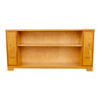 1920s Swedish Art Deco Three Sided Inlaid Bookcase For Sale