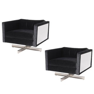 Pair of 1970s Mid-Century Modern Lounge Chairs For Sale