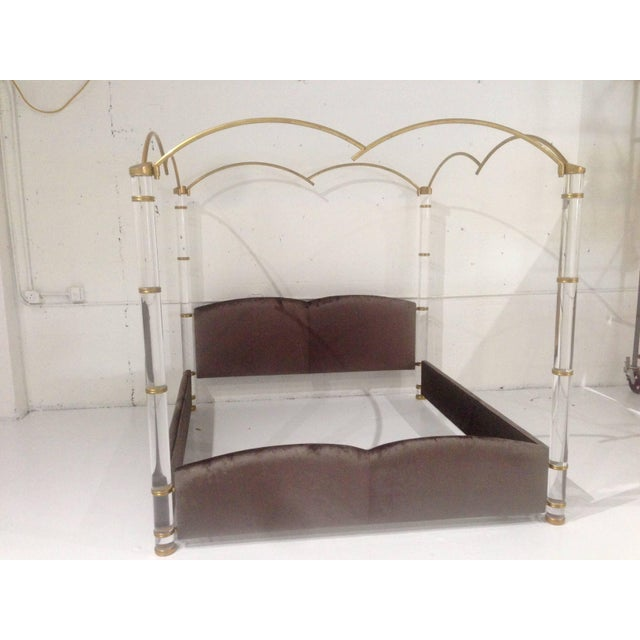 Stunning and beautiful is this king-size/poster bed designed and manufactured in Italy by Marcello Mioni in the early...