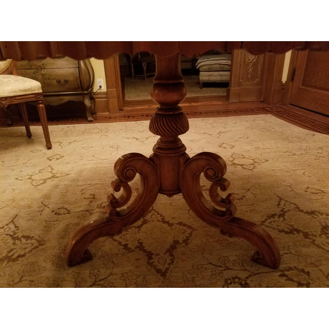 Ebanista Table With Inlay For Sale - Image 5 of 7