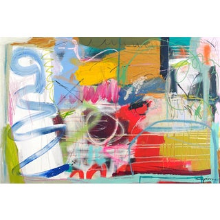 """Lesley Grainger """"Halo"""" Original Abstract Painting For Sale"""