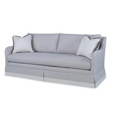 Traditional Century Furniture Corrie Skirted Sofa For Sale - Image 3 of 3