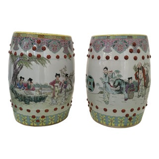 Chinese Ceramic Garden Seats, a Pair For Sale