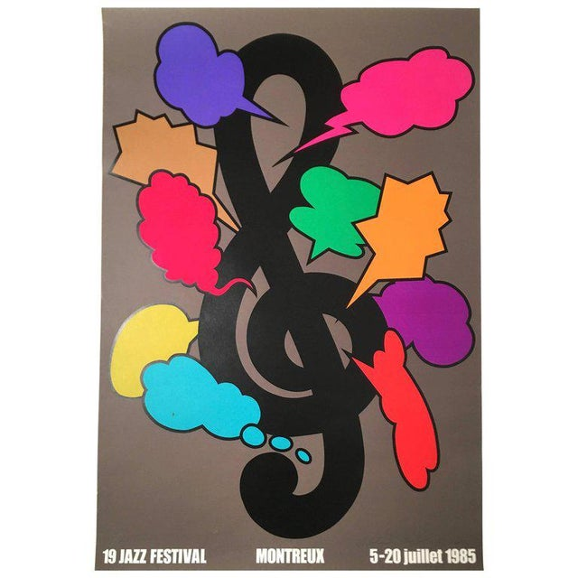 Montreux Jazz Festival Poster by Shigeo Fukuda For Sale - Image 10 of 10
