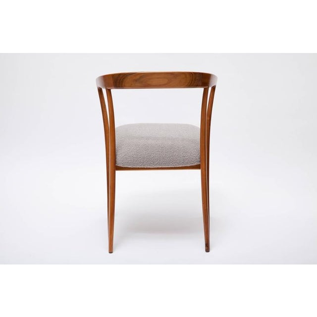 Wood Pair of Bertha Schaefer Walnut Armchairs for Singer & Sons For Sale - Image 7 of 10