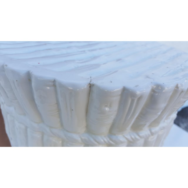 Italian Faux Bamboo Ceramic Stool . - Image 5 of 8