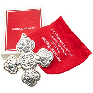 1971 Reed & Barton Sterling Christmas Cross With Original Box For Sale