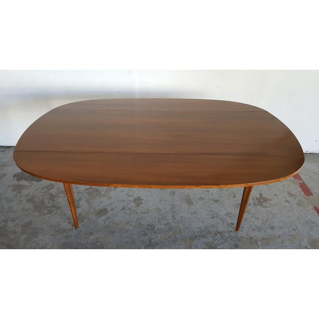Broyhill Brasilia Walnut Drop Leaf Dining Table - Image 3 of 11
