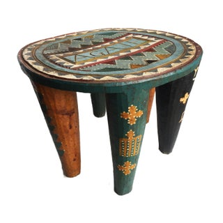 "African Lg Nupe Stool Nigeria 13"" H by 17.5"" W Preview"