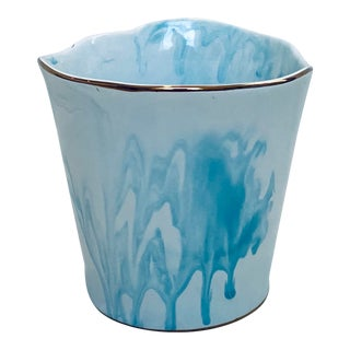 Drip Paint Style Flower Vase For Sale