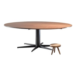 Very Large (225 CM / 88.58 Inch Diameter) Round Industrial Table, Dutch, 1950s/60s For Sale