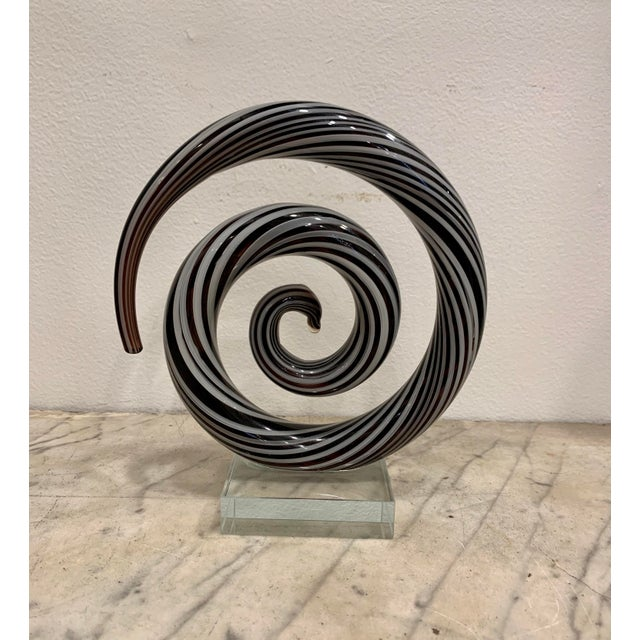 1970s Venetian Murano Glass Sculpture For Sale - Image 5 of 5