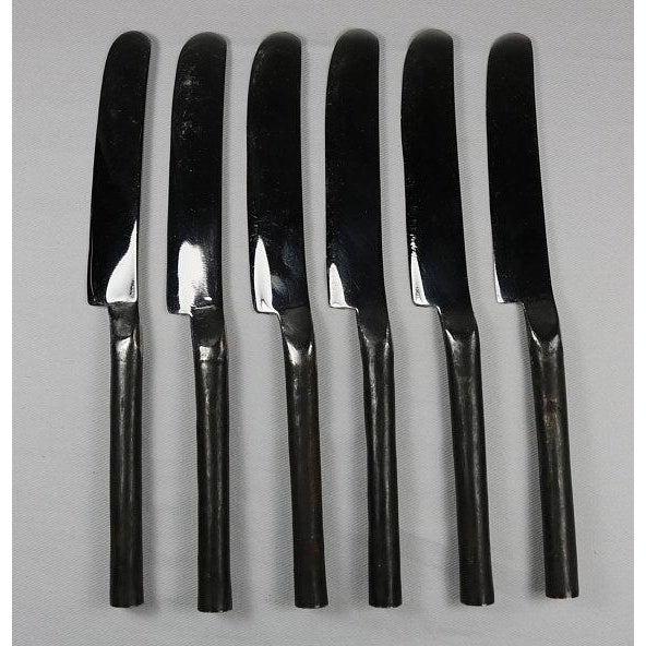 Burnished Rustic Flatware Appetizer Salad Knife - Set of 6 (New) For Sale - Image 9 of 9