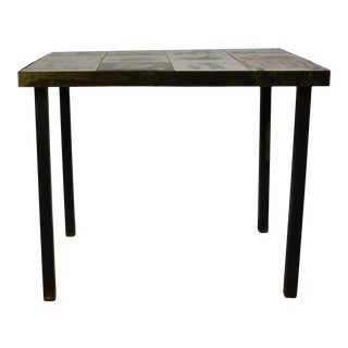 Mid-Century Tile Top End Table For Sale